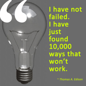 Edison failure quote