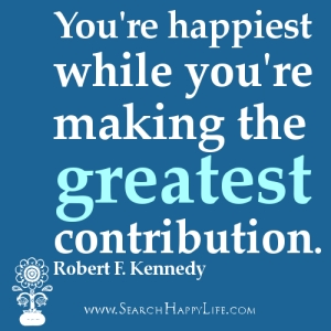 happiness and contribution
