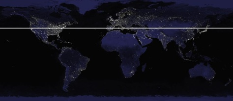 nasa light map - 40 deg lattitude