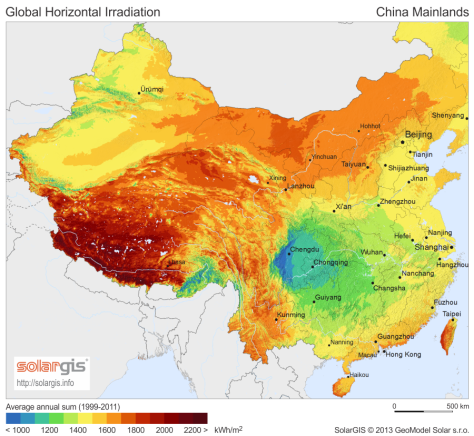 SolarGIS-Solar-map-China-Mainlands-en